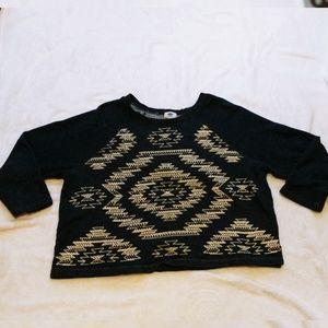 Old Navy Aztec Sweat Shirt